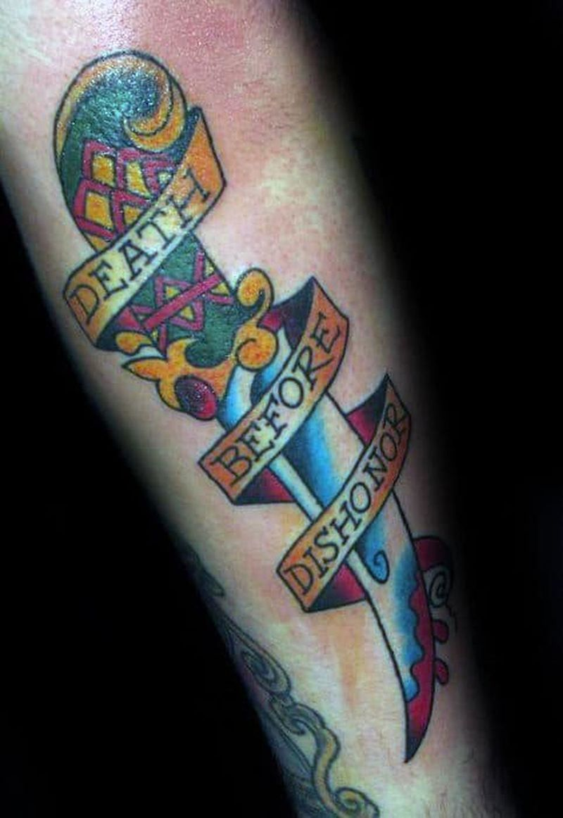 40 Death Before Dishonor Tattoo Designs For Men - Manly Ink Ideas