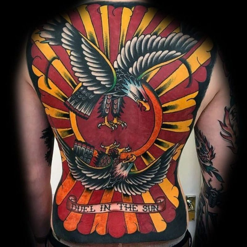 Top 97+ beste Eagle Tattoo -idees in 2021